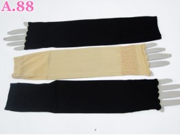 Sarung Lengan Renda Coklat Hitam / 6 pcs ( A-2805 )