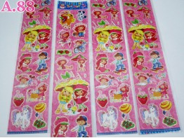 Stiker Panjang Strawberry / 10 lembar (A-3198)