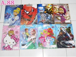 Papan Ujian Disney / 2 Pcs  (A-3781)