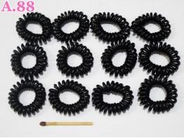 Kuncir Spiral Mini Hitam / 25pcs (A-3977)