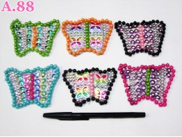 Bros Mote Love Kupu Warna / 6pcs (A-4164)