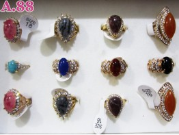Cincin Fashion Batu / 2 pcs ( A-4938 )