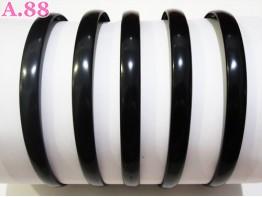 Bando Hitam Polos / lusin (A-5185)
