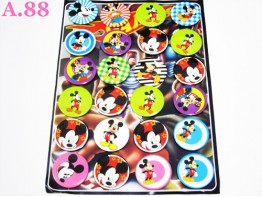 Pin Kaleng MIckey Mouse / papan ( A-5252 )