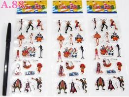 Stiker Timbul One Piece / 10 lembar ( A-5461 )