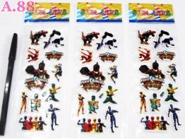 Stiker Timbul Power Rangers  / 10 lembar ( A-5468 )
