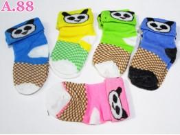 Kaos Kaki Bayi Lipat Panda / 6 pasang ( A-5628 )