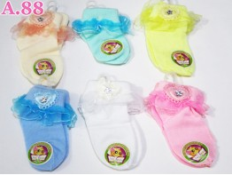 Kaos Kaki Bayi Renda / 6 pasang ( A-5630 )