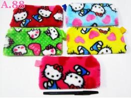 Dompet Kosmetik Bludru Kitty / lusin (A-5737)
