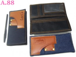 Dompet Cowok Panjang Kain jeans / 2 pcs ( A-5738 )