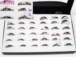 Cincin Silver Tengah Mata Isi 36 / kotak (A-6230)