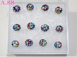 Giwang Bola Mata Warna / box ( A-5922 )