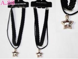 Kalung Coker Double Bintang / lusin ( A-6003 )