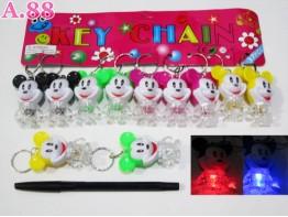 Gantungan Kunci Lampu Mickey / lusin ( A-6037 )