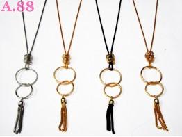 Kalung Fashion Panjang Bulatan/ 2pcs (A-6052)