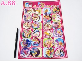 Pin Kaleng Barbie / papan ( A-6054 )