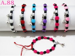 Gelang Gepeng Warna Paris / lusin ( A-6056 )