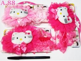 Bandana Kitty Bantal Pita / 6pcs (A-6066)