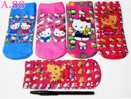 Kaos Kaki Anak Kitty / 6 pasang ( A-6107 )