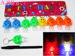 Gantungan Kunci Smile Lampu / lusin ( A-6138 )