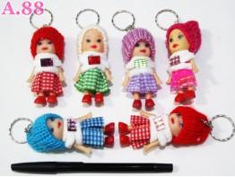 Gantungan Kunci Barbie Topi / lusin ( A-6139 )