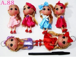 Gantungan Kunci Barbie Medium / 6 pcs ( A-6167 )