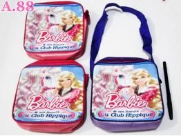 Tas Selempang Anak Kotak Barbie / 2 pcs ( A-6177 )