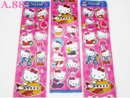 Stiker Panjang Kitty / 10 lembar ( A-6221 )