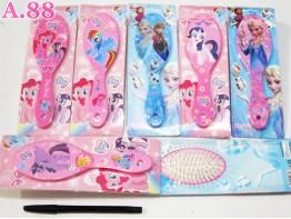 Sisir Gagang Pony Frozen / 4 pcs ( A-6223 )