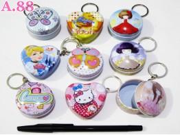 Gantungan Kunci Kaleng Koin Disney / 6 pcs ( A-6224 )