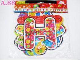 Spanduk Birthday Love / 2 bungkus ( A-6239 )