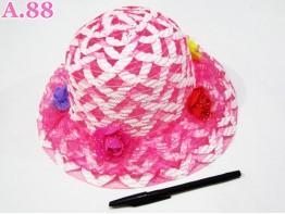 Topi Anak Tikar Cewek Rose / 2 pcs ( A-6322 )