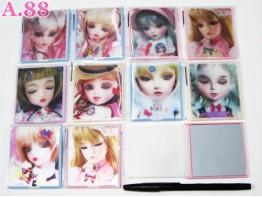 Kaca Kecil Petak Barbie 3D / lusin ( A-6441 )