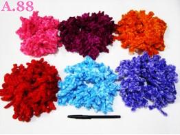 Kuncir Ubur Besar Warna / 6 pcs ( A-6453 )