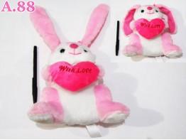 Boneka Kelinci Pink / 1 pcs ( A-6467 )