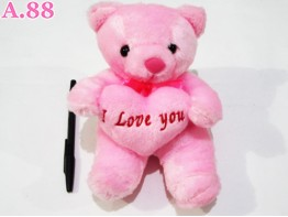 Boneka Bear Pink / 1 pcs ( A-6468 )