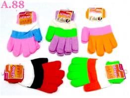 Sarung Tangan Garis Warna / 6 pasang ( A-7054 )