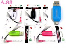 Card Reader Micro OTG / 3 pcs ( A-8160 )