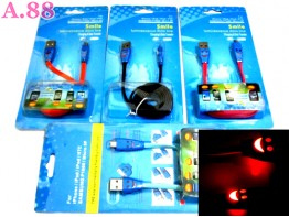 Kabel Data Smile Warna / 2 pcs ( A-8167 )