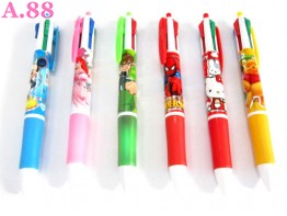 Pulpen 4Warna Disney / lusin ( A-8168 )
