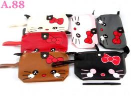 Dompet Kosmetik Kitty Pita Telinga / 3 pcs ( A-8170 )