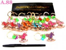 Gantungan Kunci Kuda Emas / lusin ( A-8203 )