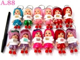 Gantungan Kunci Barbie Syal Putih / lusin ( A-8260 )
