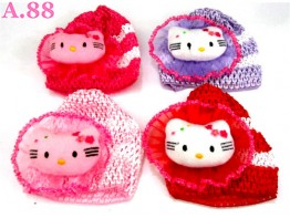 Topi Rajut Kitty Bantal / 6 pcs ( A-8276 )