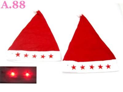 Topi Natal Lampu / 6 pcs ( A-8303 )