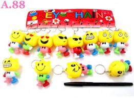 Gantungan Kunci Smile Goyang / lusin ( A-8304 )