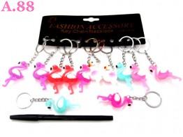 Gantungan Kunci Karet Bangau / lusin ( A-8305 )