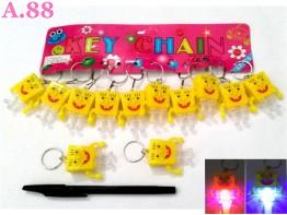 Gantungan Kunci Spongebob Lampu / lusin ( A-8340 )