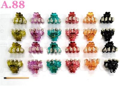 Jepit Salon Kecil Empat Rongga Mata / lusin ( A-8368 )