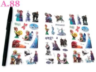 Stiker Timbul Frozen / 10 lembar ( A-8376 )